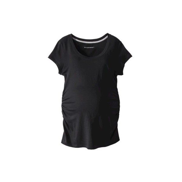 Liz Lange for Target Maternity Short-Sleeve Basic Tee - Assorted... ($15) ❤ liked on Polyvore featuring maternity and maternity tops