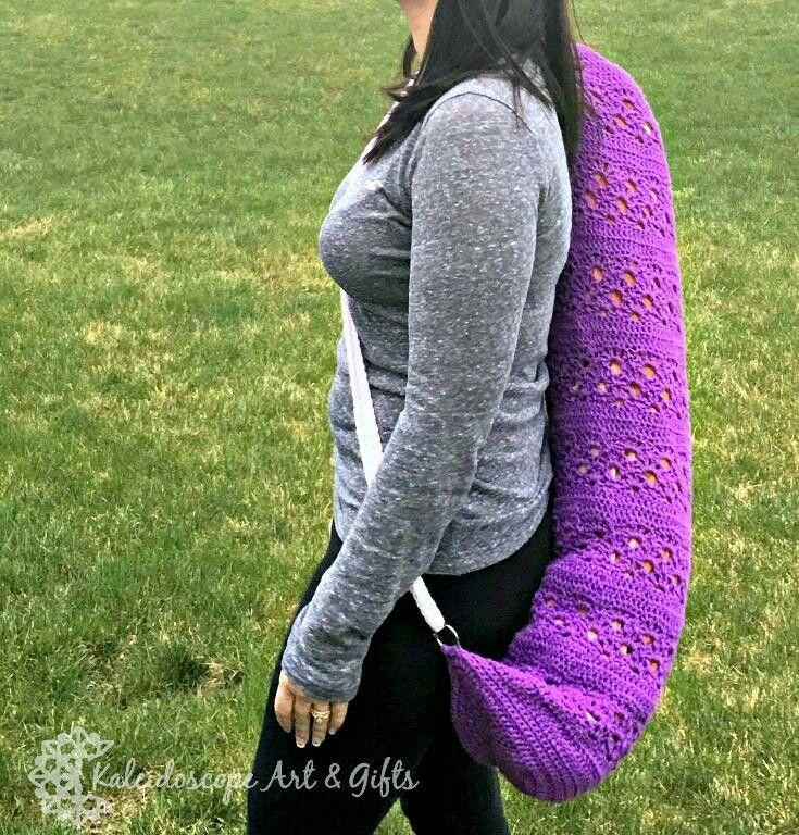 Perfect Harmony Yoga Mat Bag~ #crochet pattern by #KaleidoscopeArtnGifts