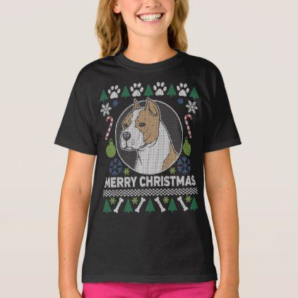 American Stafford Dog Breed Ugly Christmas Sweater - diy cyo customize create your own #personalize