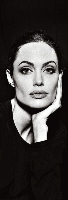 Angelina Jolie- this photo puts me in mind of Audrey Hepburn