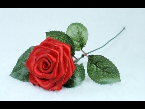 How to make Ribbon Rose, Taller, Tutorial, DIY