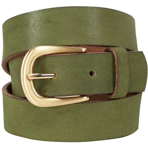 White Stuff Wilding Buckle Belt, Kale Green (£23) ❤ liked on Polyvore featuring accessories, belts, leather buckle belt, leather belts, green belt, white leather belt and genuine leather belts