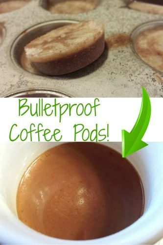 Bulletproof Coffee Pods - keep in freezer then blend into hot coffee