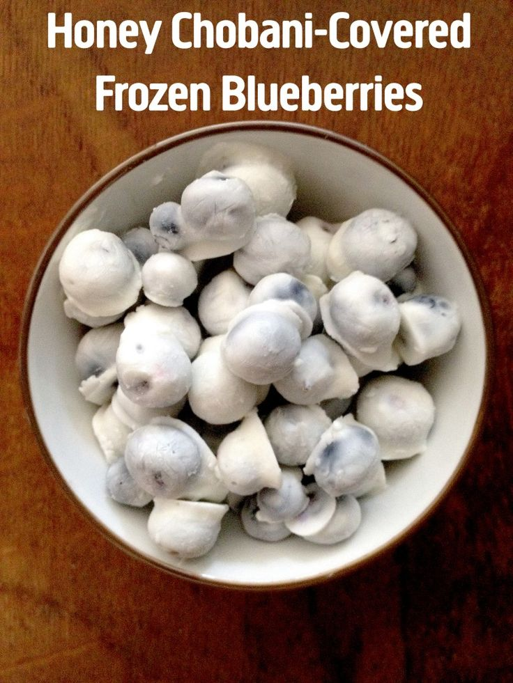 [Recipes] Chobani Covered Frozen Blueberries. They're incredibly simple and easy to make — you only need two ingredients and about 5 minutes of prep time — plus they're uber healthy to boot. WHAM.