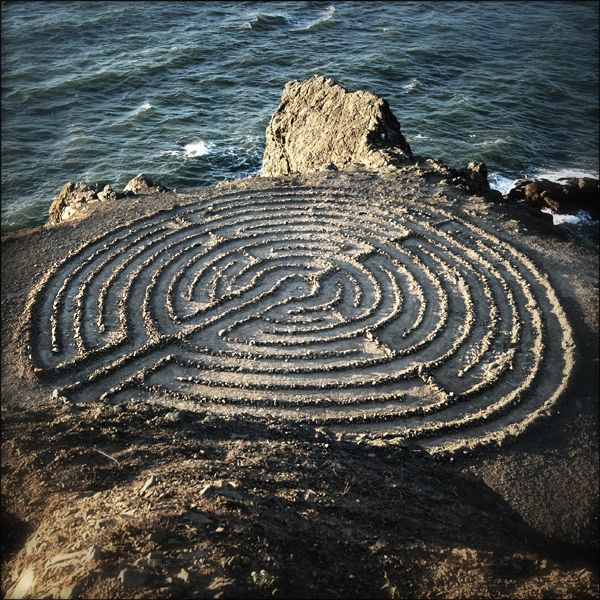 Stone Labyrinth----in Northern Europe when close to the coast they are actually navigational aids to early sailors