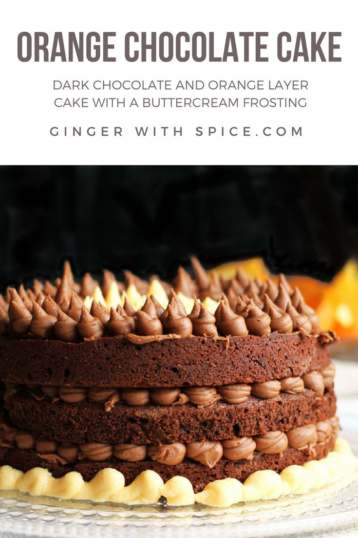 Dark chocolate and orange is a perfect flavor combination. Add in sponge cake and buttercream and it makes for a stunning cake! Click here for the recipe.