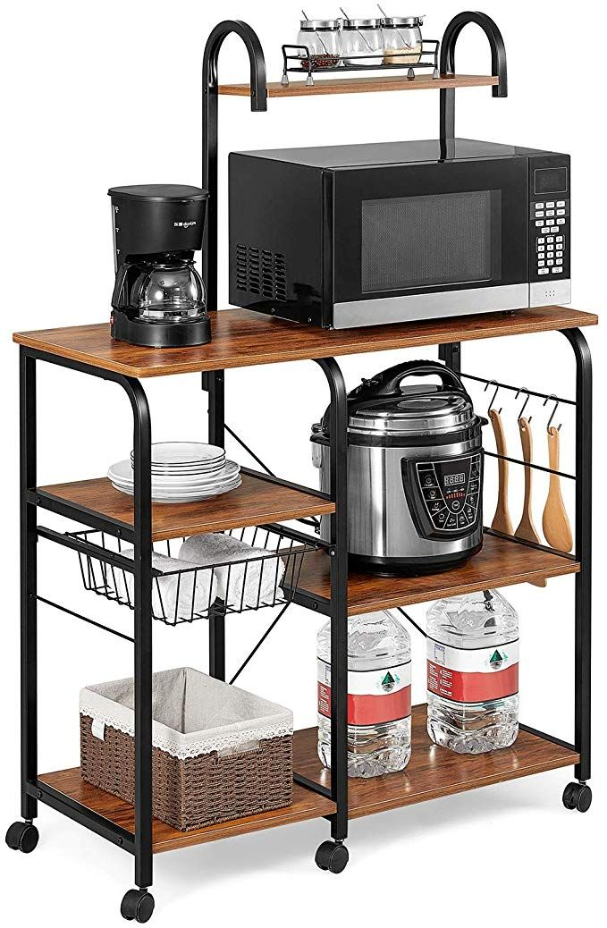 Amazon Com Kealive Kitchen Baker S Rack On Wheels Freestanding