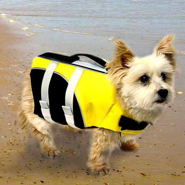 Pet Accessories -- Rudducks Pet Life Jacket - Small -- This unique life jacket provides ultimate buoyancy and high visibility to keep pets safe on the water while ensuring a cozy yet secure fit. It provides your dog more comfort and healthier conditions than traditional pet life jackets, which can cause heat exhaustion and chafing. You won't have to sacrifice style for comfort or safety, this life jacket will keep pooch fashionable and in style when on a boat, or any where near water.