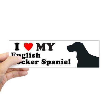 ENGLISH COCKER SPANIEL Bumper Bumper Sticker on CafePress.com