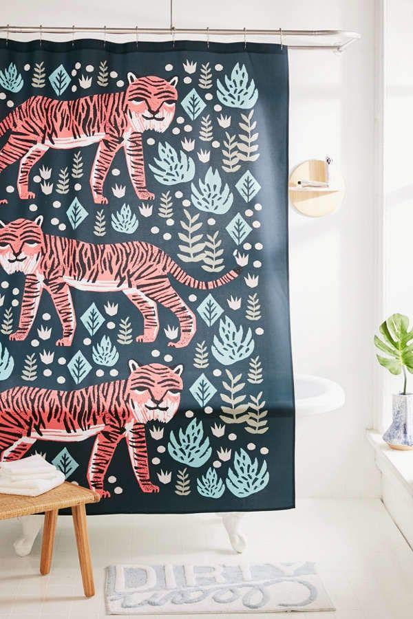 Andrea Lauren For Deny Safari Tiger Shower Curtain Urban