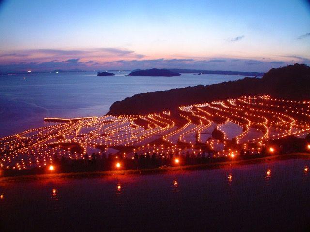 Matsuura City, Nagasaki, Japan  土谷棚田の火祭