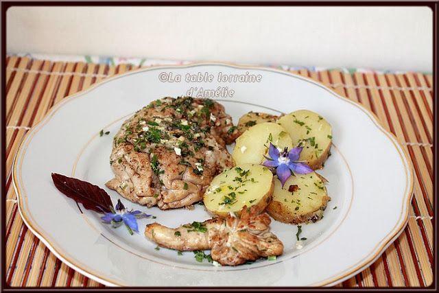 LA TABLE LORRAINE D'AMELIE: Cervelle de veau et pommes vapeur en persillade