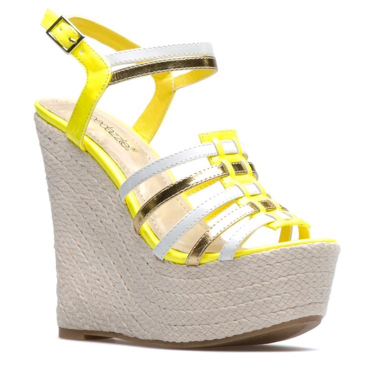 Yellow Wedge Heels