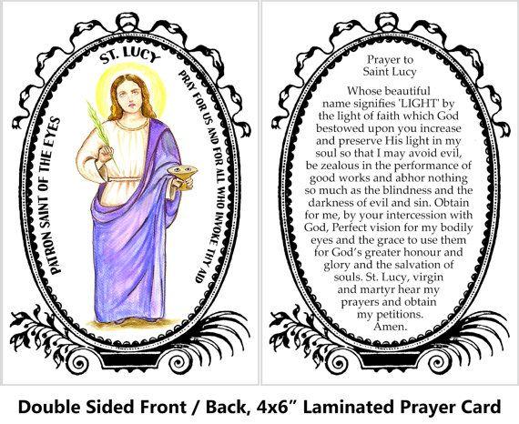 Lucy Prayer Eyes Saint