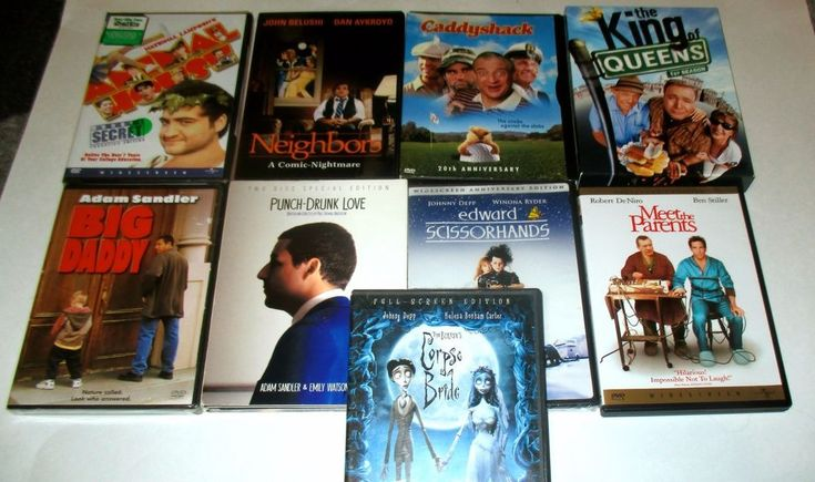 8 DVD COMEDY: JOHN BELUSHI- ANIMAL HOUSE/CADDYSHACK/ KING OF QUEENS/ BIG DADDY  #comedymovies  #johnbelushi  #chevychase #adamsandler  #movies  #moviedvd