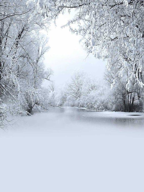 White Winter Snow River Photography Studio Backdrop Background Background For Photography Winter Backdrops Studio Backdrops Backgrounds