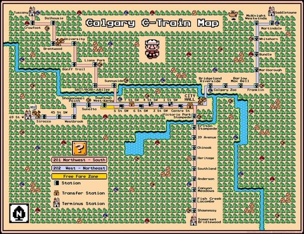 Famous Subway Maps, Reimagined as Vintage Super Mario Brothers Games