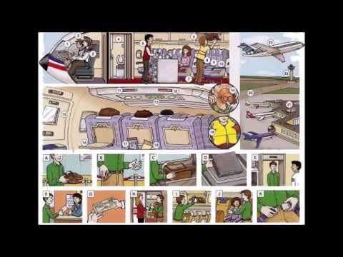 Aeroplane / airplane and airline vocabulary video with pictures