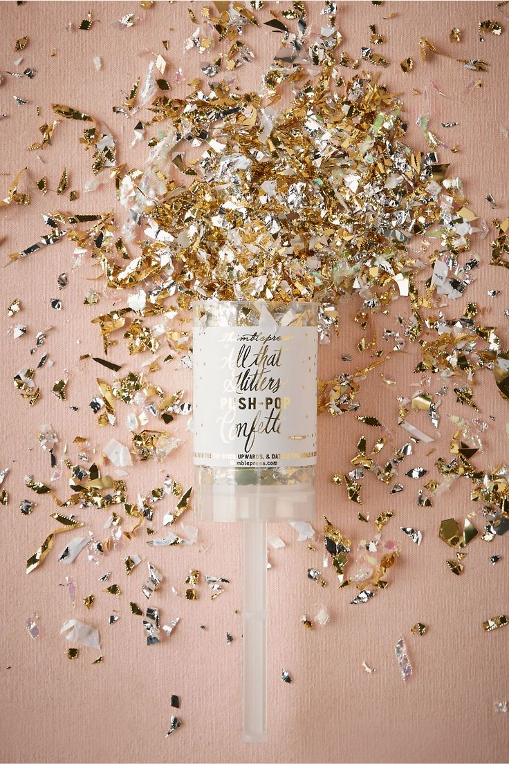 Our Thimblepress® All That Glitters Push-Pop Confetti™ looking lovely styled on BHLDN.com