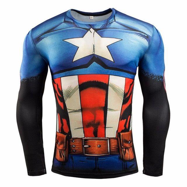 BAOLONG Batman VS Superman T Shirt Tee 3D Printed T-shirts Avengers iron man Civil War crossfit camiseta gymshark De kleren