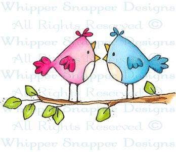 Hot Gossip - Birds - Animals - Rubber Stamps - Shop