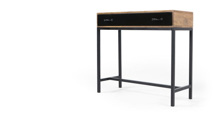 Lomond Console Table, Mango Wood and Black (made.com)