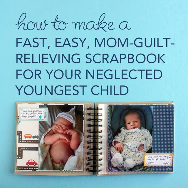 A Fast, Easy, Mom-Guilt-Relieving Scrapbook for My Neglected Youngest Child by @Wendy Copley: Wendy Felt, Youngest Child, Mom Guilt Relievers Scrapbook, Maybe Children Stuff Good, Scrapbook Title, Momguiltreliev Scrapbook, Fast & Easy Scrapbook, Neglect Youngest, Wendy Copley