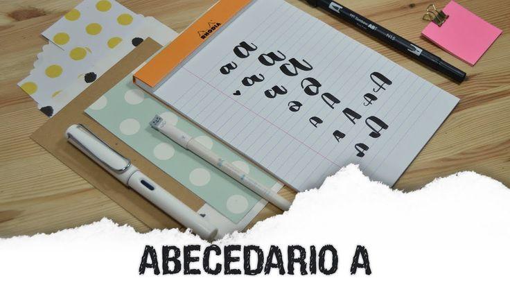 Abecedario lettering A - UGDT