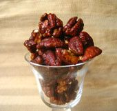 Sweet and Spicy Candied Pecans The reviews are good. I'm trying this one first!! Can't wait!!!
