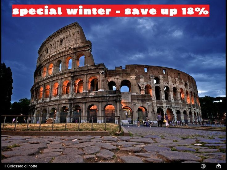 Winter in #Rome: #save up to 18% with our Winter Special Offer! Min. stay 2 nights - Including: buffet breakfast, wifi, welcome drink, map, #Rome guide book.
