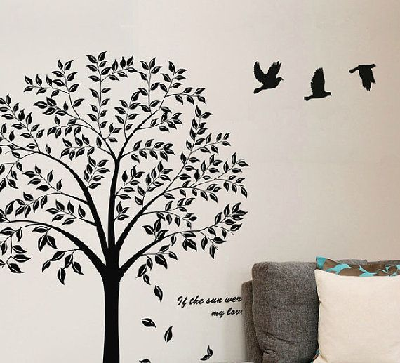 Black Tree wall decals  Tree of life wall decal от Walldecorative