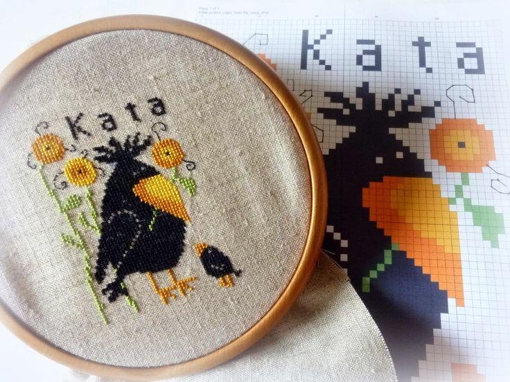 HOKATA MESÉS VILÁGA - BLOG: Varjú buli- free cross stitch pattern