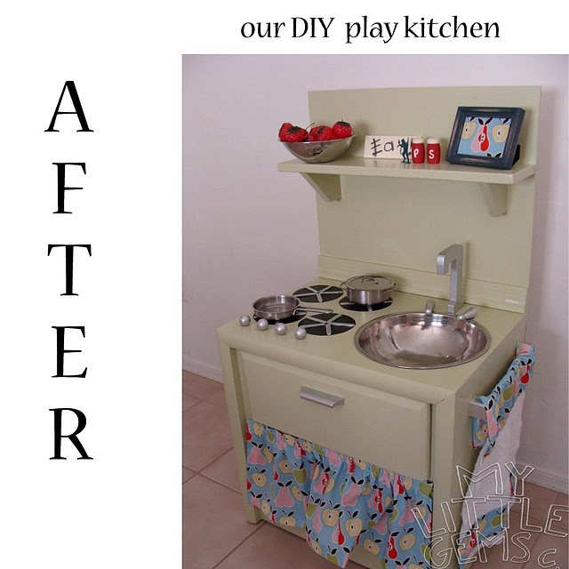 31 best images about baker 39 s dozen diy play kitchens on for Play kitchen table