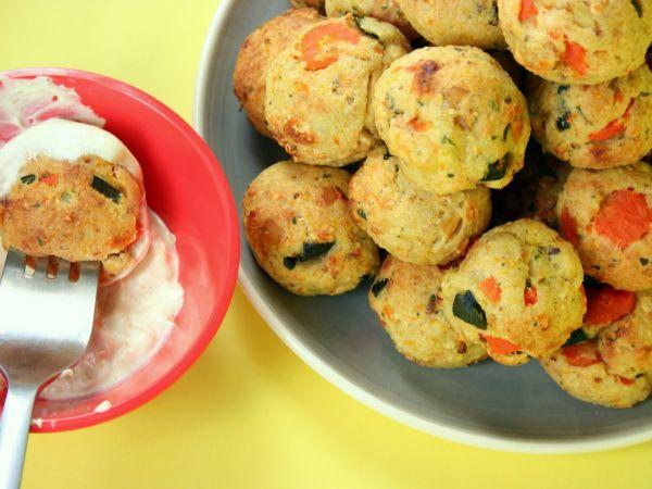 Ricetta Polpette di verdure con salsa allo yogurt al curry, da Lagonzales - Petitchef