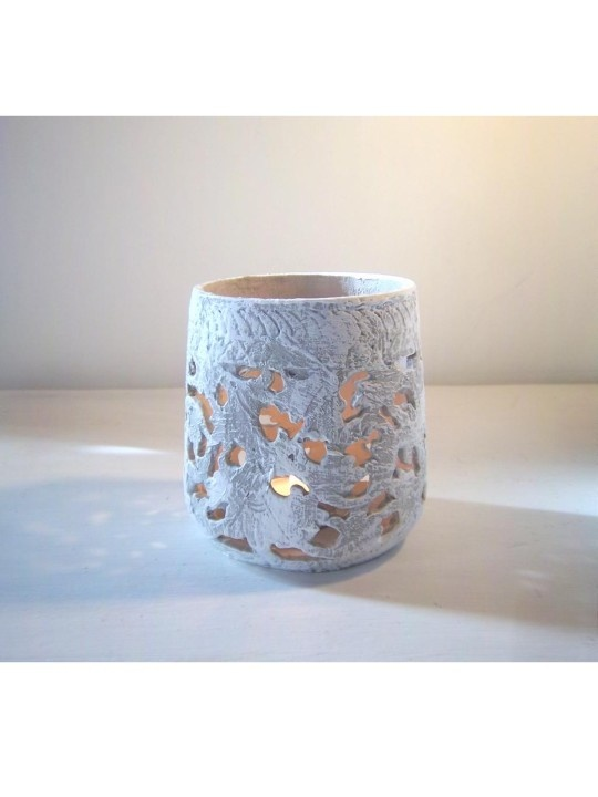 Pretty Upcycled candle holder