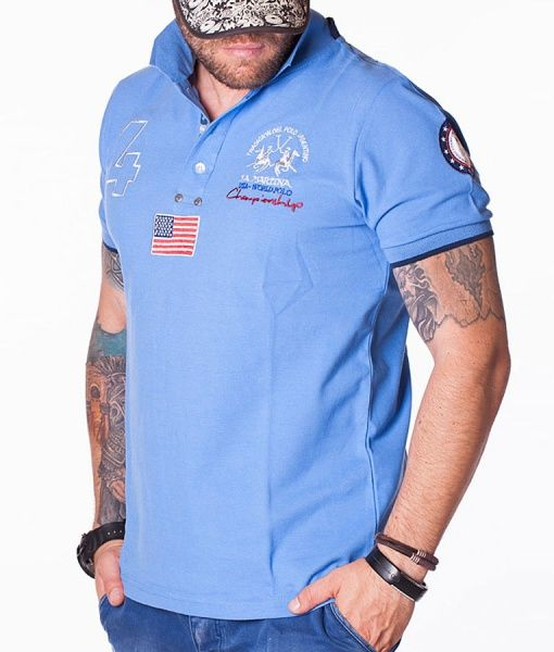 La Martina Tricouri Polo - N:4 World tricou polo albastru