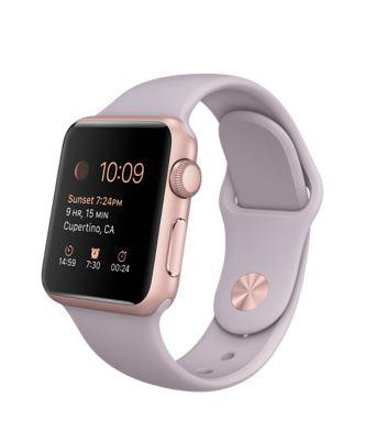 Apple Watch Sport - Caja de aluminio color oro rosa de 38mm con correa deportiva lavanda  - Apple (MX)