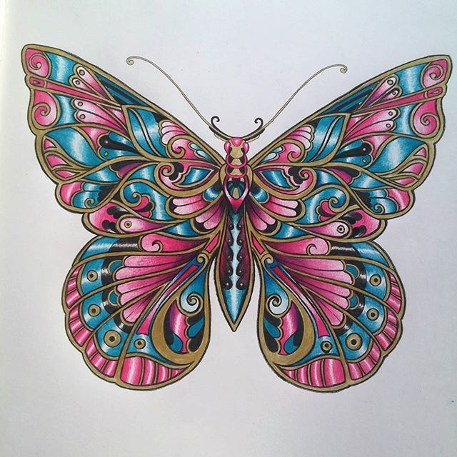 #magicaljungle #johannabasford #butterfly #coloringbook #colours…