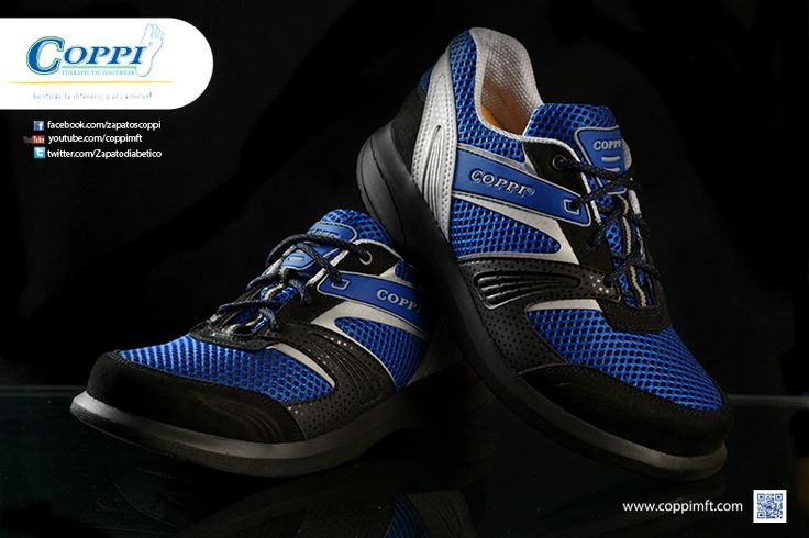 Zapatos para Diabéticos - Doyle Negro x Azul x Gris