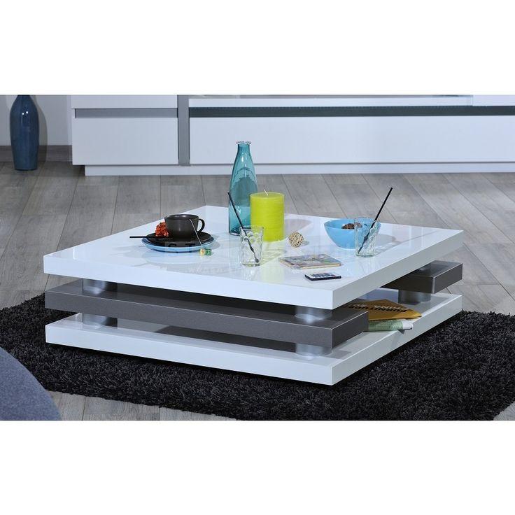 Chris Salontafel vierkant 90cm - Hoogglans Wit