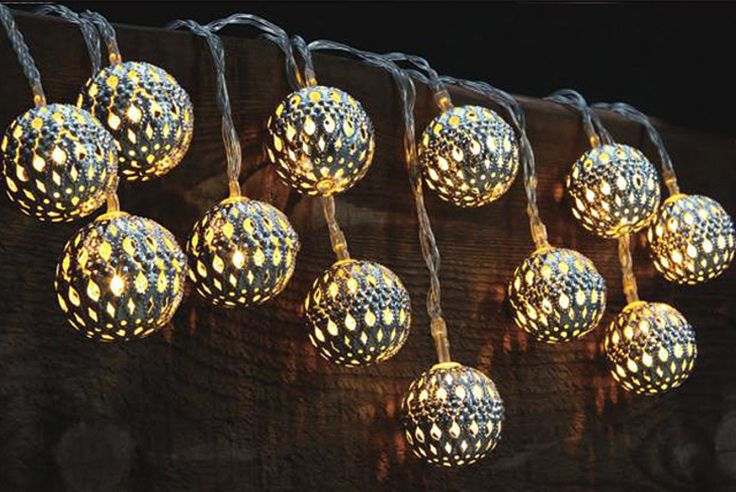 Kikkerland Moroccan String Lights : Moroccan-Style String Lights - 3 Designs! Love a deal Pinterest Solar string lights and ...