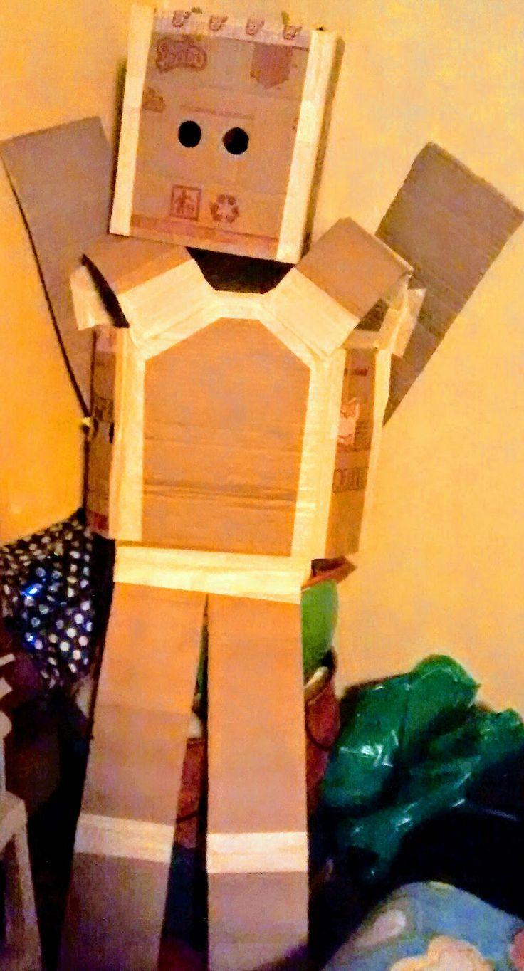 Halloween, robot, disfraz, DIY, manualidades, recycle.