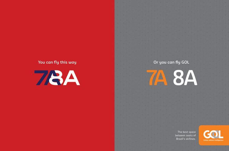 Read more: https://www.luerzersarchive.com/en/magazine/print-detail/gol-linhas-aereas-64039.html Gol Linhas Aereas The best space between seats of Brazil's airlines. Tags: AlmapBBDO, Sao Paulo,Zé Baldin,Fernando Duarte,Heitor Buchalla,Henrique Del Lama,Gol Linhas Aereas,André Gola,Pernil