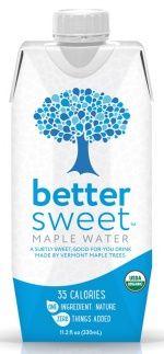 BetterSweet Maple Water in Tetra Pak cartons. Alternative to the water bottle.