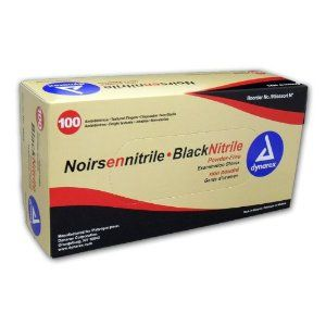 Black Nitrile Exam Gloves Small Box/100 by Dynarex. $10.99. Commonly used by law enforcement professionals. 1 box contains 100 ambidextrous gloves. Extraordinary strength and puncture resistance while maintaining tactile sensitivity. The ideal solution for individuals sensitive to natural rubber latex and donning powder. Contains no allergy causing natural rubber proteins. Nitrile exam gloves are the ideal solution for individuals sensitive to rubber latex and/or d...