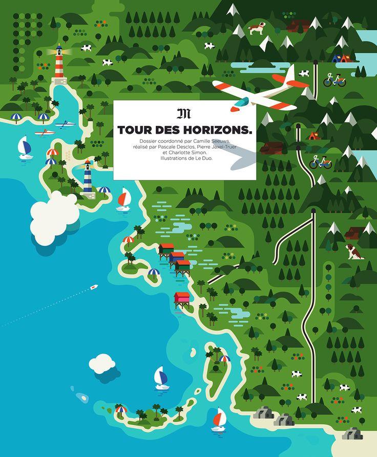 Netherlands Ns Map%0A Le Monde Magazine on Behance