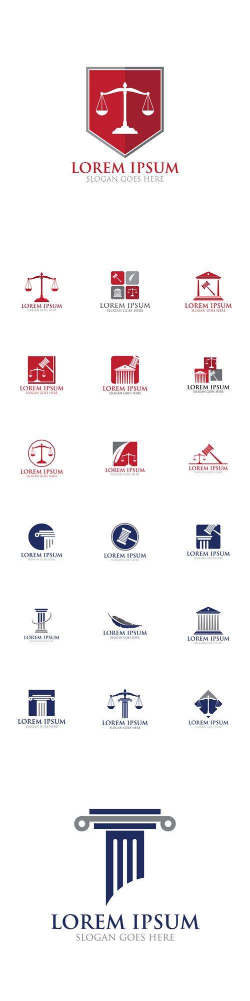Vectors - Law Legal Logo Icon Design