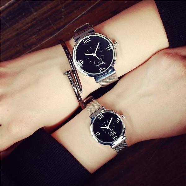 ffd29a0cb6b Fashion Watch Women Stainless Steel Mesh Strap Female Watches BGG Famous Brand  Quartz Clock Woman 2