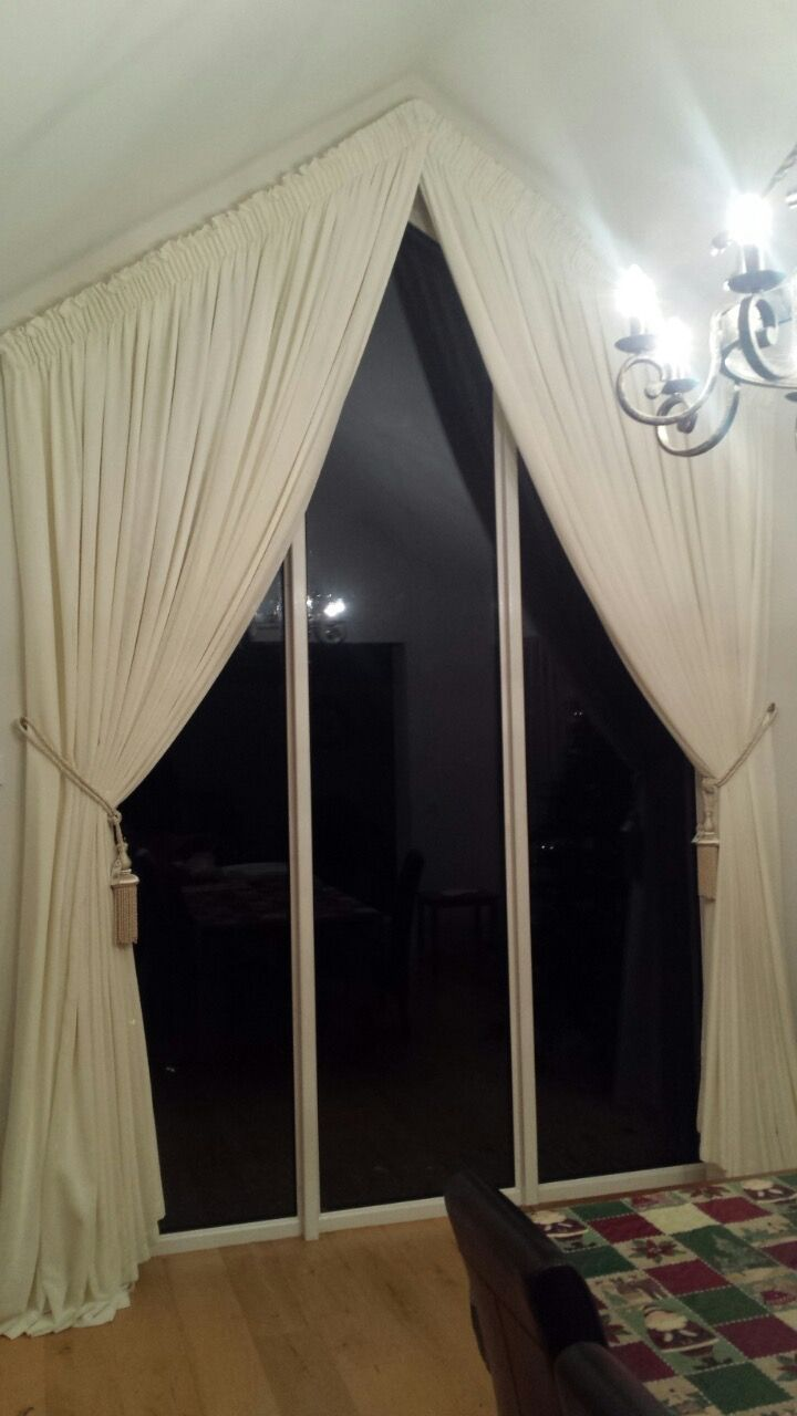 1000 Images About Curtains On Triangular Windows