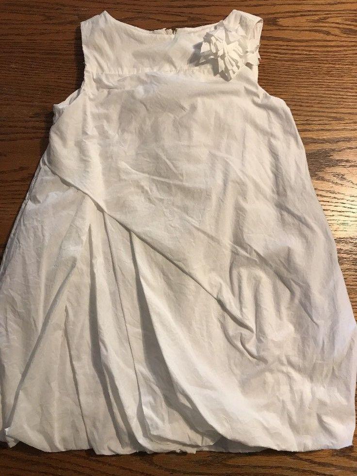Crewcuts Girls Size 5 White, Bubble Hemline Sleeveless Dress EUC  | eBay